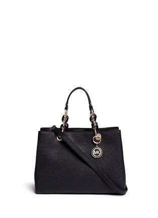 Main View - Click To Enlarge - Michael Kors - 'Cynthia' medium saffiano leather satchel