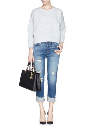 Figure View - Click To Enlarge - Michael Kors - 'Cynthia' medium saffiano leather satchel
