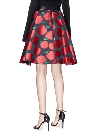 Back View - Click To Enlarge - alice + olivia - 'Earla' apple jacquard flared skirt
