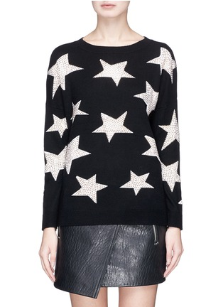 Main View - Click To Enlarge - alice + olivia - 'Bao' strass star intarsia wool sweater