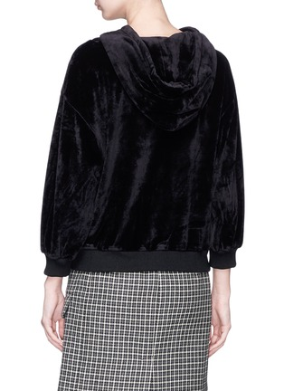 Back View - Click To Enlarge - alice + olivia - 'Adam' velvet hoodie