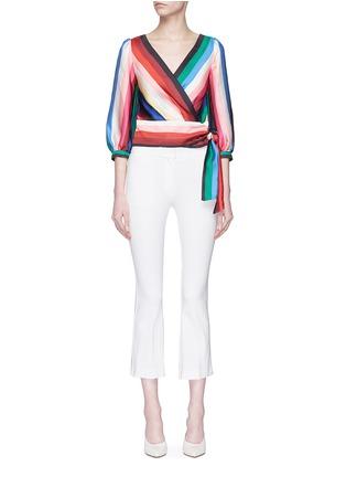 Main View - Click To Enlarge - alice + olivia - 'Dyanna' stripe tie waist top