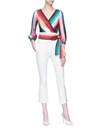 Figure View - Click To Enlarge - alice + olivia - 'Dyanna' stripe tie waist top