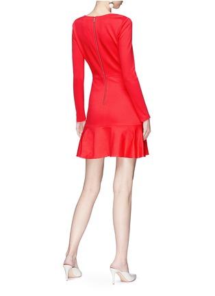 Figure View - Click To Enlarge - alice + olivia - 'Francine' ruffle hem dress