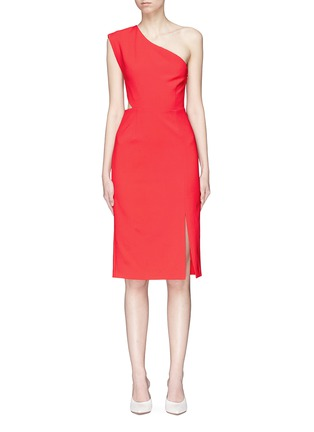 Main View - Click To Enlarge - alice + olivia - 'Gina' cutout waist one-shoulder dress