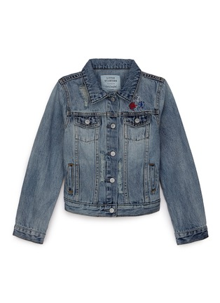 Main View - Click To Enlarge - Little Starters x Lane Crawford - Star embroidered kids denim jacket