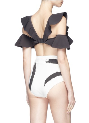 Back View - Click To Enlarge - Zimmermann - 'Painted Heart Flutter' colourblock bikini set