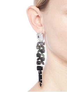 Jardin Ombré strass link statement earrings