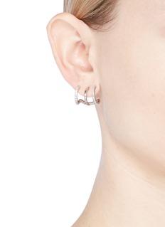 CZ by Kenneth Jay Lane Cubic zirconia triple hoop earrings