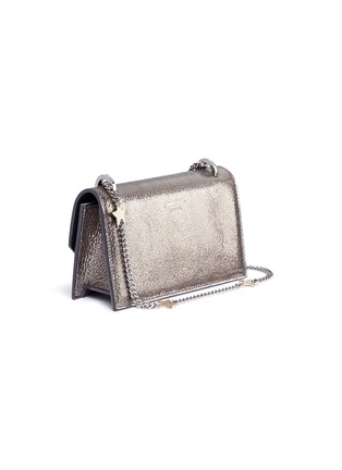 Detail View - Click To Enlarge - Jimmy Choo - 'Selena Gle' metallic leather crossbody bag
