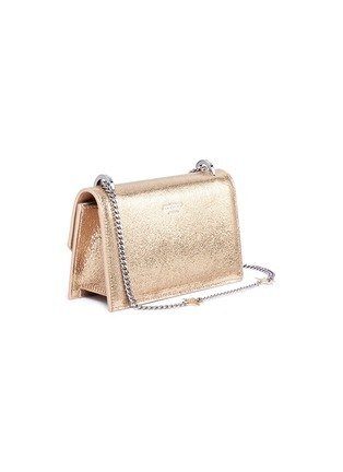 Detail View - Click To Enlarge - Jimmy Choo - 'Selena Gle' metallic leather crossbody bag