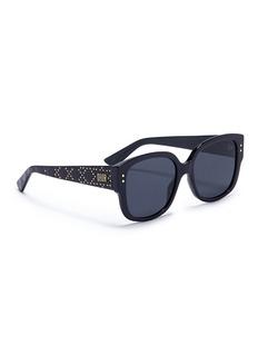 Dior 'LadyDior' logo stud temple acetate square sunglasses