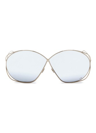 Main View - Click To Enlarge - Dior - 'Dior Stellaire 2' metal round sunglasses