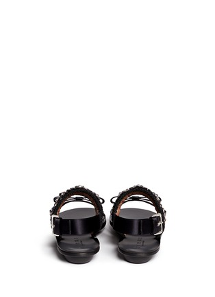 Back View - Click To Enlarge - Marni - Floral jewel strap wedge sandals
