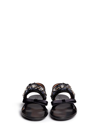 Figure View - Click To Enlarge - Marni - Floral jewel strap wedge sandals