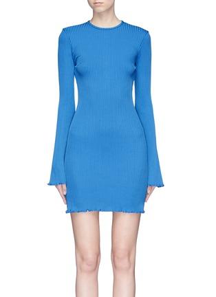 Main View - Click To Enlarge - Ellery - 'Sunshine Kid' flared sleeve rib knit mini dress