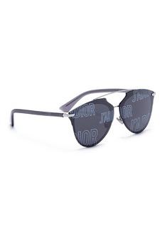 Dior 'J'adior Reflected' logo lens panto sunglasses