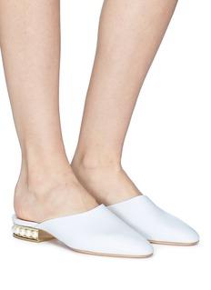 Nicholas Kirkwood 'Casati' faux pearl heel leather mules