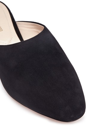 Detail View - Click To Enlarge - Nicholas Kirkwood - 'Casati' faux pearl heel suede mules