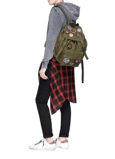 SAINT LAURENT 'Noe' patch twill backpack