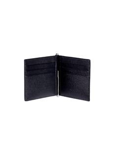 SAINT LAURENT Grain de poudre leather bill clip bifold wallet