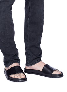 SAINT LAURENT 'Jimmy 20' calfskin leather slide sandals