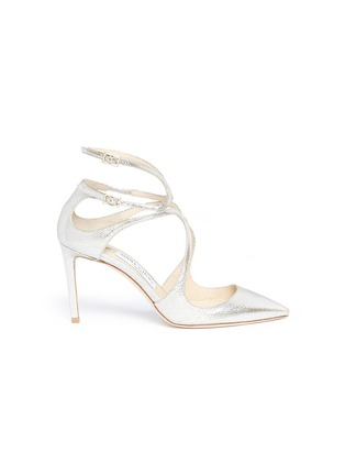 Main View - Click To Enlarge - Jimmy Choo - 'Lancer 85' metallic leather pumps