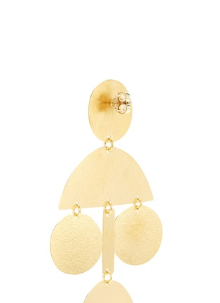 Detail View - Click To Enlarge - ANNIE COSTELLO BROWN - 'Pom Pom' geometric chandelier earrings