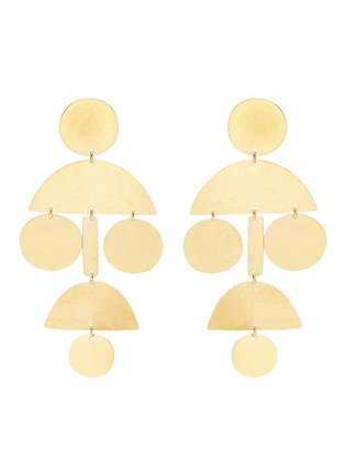 Main View - Click To Enlarge - ANNIE COSTELLO BROWN - 'Pom Pom' geometric chandelier earrings