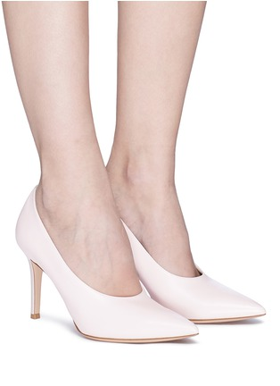 Figure View - Click To Enlarge - Gianvito Rossi - 'Muriel' leather choked-up pumps
