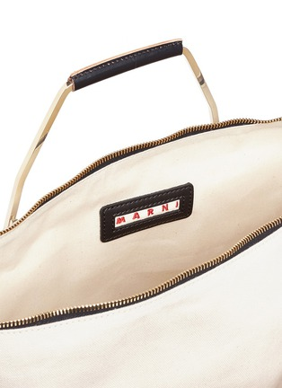 Detail View - Click To Enlarge - Marni - 'Tricot' knit effect leather openwork tote