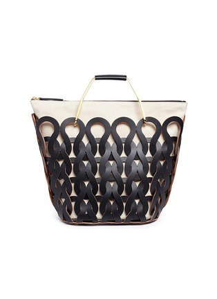 Main View - Click To Enlarge - Marni - 'Tricot' knit effect leather openwork tote