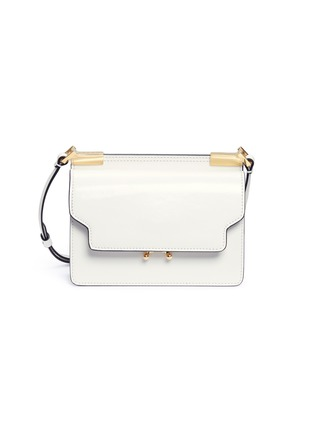 Main View - Click To Enlarge - Marni - 'Trunk' calfskin leather micro shoulder bag