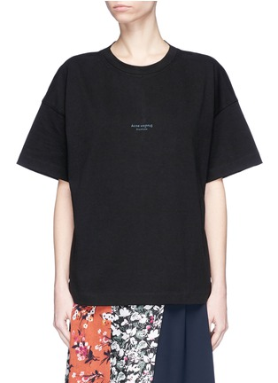 Main View - Click To Enlarge - Acne Studios - 'Stellie' logo print oversized T-shirt