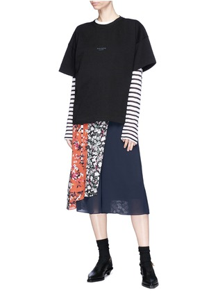 Figure View - Click To Enlarge - Acne Studios - 'Stellie' logo print oversized T-shirt