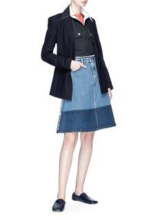 Acne Studios 'Halna' colourblock A-line denim skirt
