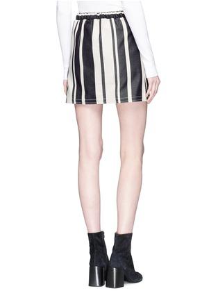 Back View - Click To Enlarge - Acne Studios - 'Hilaria' zip pocket colourblock panel stripe mini skirt