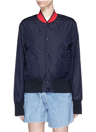 Main View - Click To Enlarge - Acne Studios - 'Mills Face' reversible bomber jacket