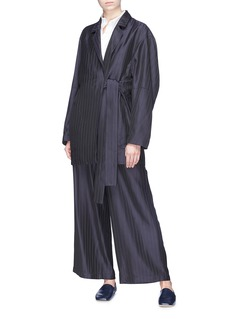 Acne Studios 'Jabin' sash tie pinstripe twill coat