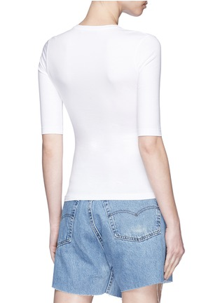 Back View - Click To Enlarge - Acne Studios - 'Idra' elbow sleeve T-shirt