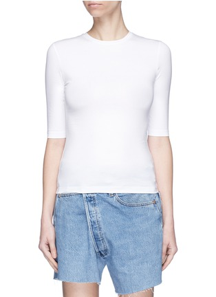 Main View - Click To Enlarge - Acne Studios - 'Idra' elbow sleeve T-shirt
