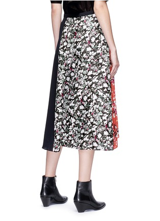 Back View - Click To Enlarge - Acne Studios - 'Hayett' floral print mock wrap crepe culottes