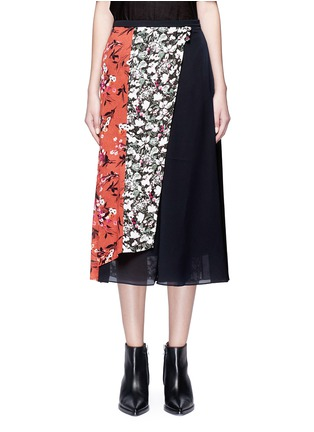 Main View - Click To Enlarge - Acne Studios - 'Hayett' floral print mock wrap crepe culottes