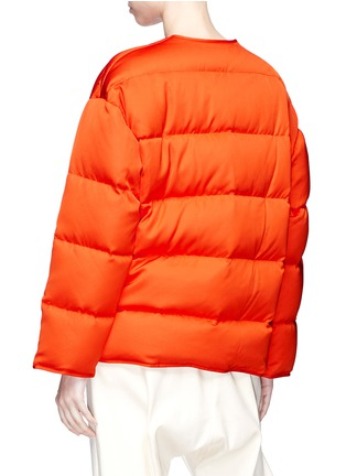 Back View - Click To Enlarge - Ms MIN - Chinese knot down puffer jacket