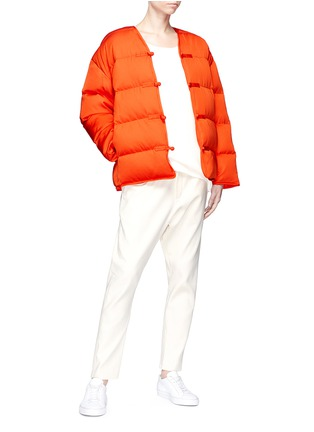 Figure View - Click To Enlarge - Ms MIN - Chinese knot down puffer jacket