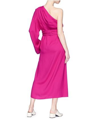 Figure View - Click To Enlarge - Ms MIN - Sash belt one-shoulder crepe dress