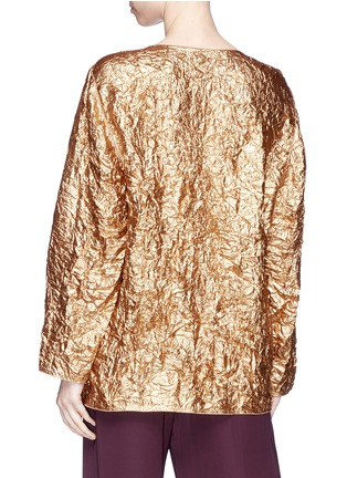 Back View - Click To Enlarge - Ms MIN - Crinkled lamé top