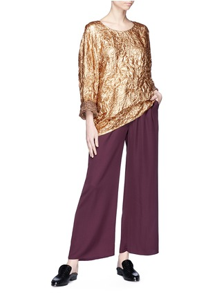 Figure View - Click To Enlarge - Ms MIN - Crinkled lamé top
