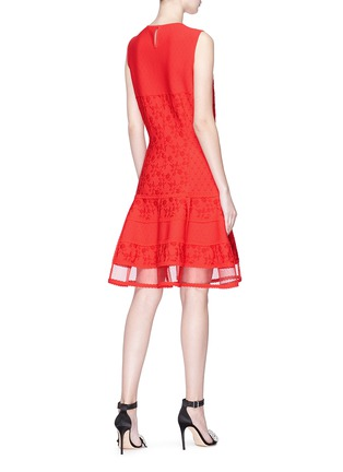 Figure View - Click To Enlarge - Alexander McQueen - Floral jacquard patchwork mini knit dress
