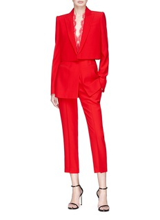 Alexander McQueen Cropped suiting pants